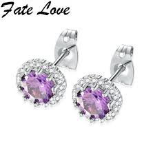 studded earrings us 9 47 fate fashion accessories studded birthstone 12
