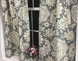 Kitchen Cafe Curtains Valance 2 Panels Cafe Curtains Paisley Valance Kitchen