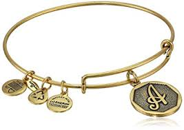 bangle bracelet images Alex and ani rafaelian gold tone initial quot a jpg