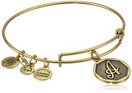initials bracelet alex and ani rafaelian gold tone initial a