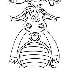 dragon butterfly coloring pages hellokids