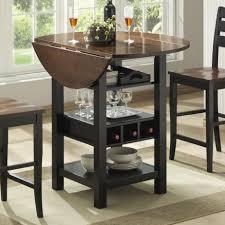 Drop Leaf Dining Table Sets Bernards Ridgewood Drop Leaf Pub Table With Wine Rack Wayside