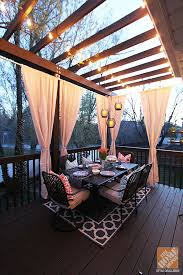 Cheap Outdoor Curtains For Patio Best 25 Outdoor Deck Decorating Ideas On Pinterest Deck