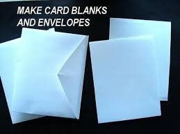 make card blanks and envelopes how to diy greeting cards