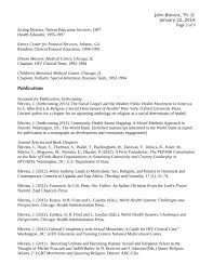 Public Health Resumes Chronological Health Educator Resume Template Page 2