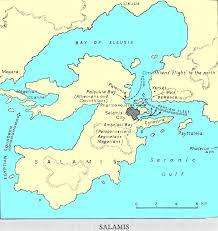 Ancient Map Of Greece by Battle Of Salamis