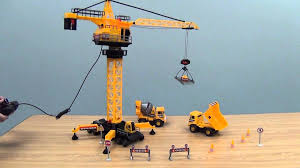 construction site with remote control crane from cp toys youtube