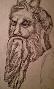 when in rome moses by michelangelo sketch