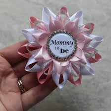baby shower corsages mommy to be pin grandma to be ribbon pink