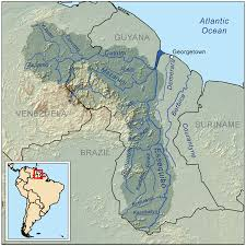 Rio On World Map File Essequiborivermap Png Wikimedia Commons
