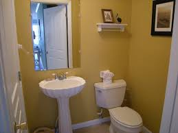 Grey And Yellow Bathroom by Bathroom Gorgeous Small Half Bathroom Decoration With Wall