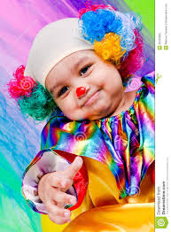 a nice kid wearing clown clothes stock photo image 26255880