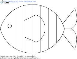 printable fish patterns patterns kid