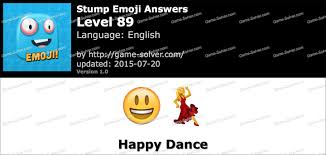 happy dance emoji stump emoji level 89 game solver