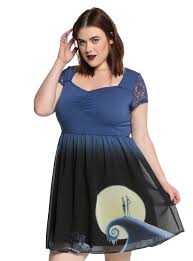 the nightmare before snow hill lace dress plus size
