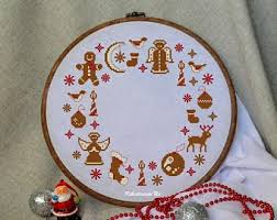 xmas cross stitch etsy