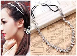 hair bands for women 2018 women silver rhinestone flower hair band elastic headband