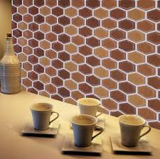 Kitchen Wall Decor Ideas Kitchen Honeycomb Smart Tiles Home Depot In Brown For Wall