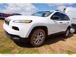 2016 jeep cherokee sport white 2016 bright white jeep cherokee sport 111130835 gtcarlot com