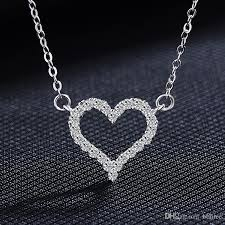all diamond necklace images Wholesale heart shaped love necklace pendant on korean female jpg