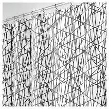 stripe shower curtain black white interdesign target