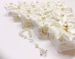 baptism favor boxes 18pcs ivory favors wedding baptism favor box with rosaries
