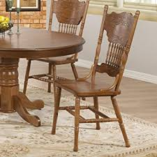 Amazoncom Coaster Home Furnishings  Country Dining Chair - Dining room chairs oak