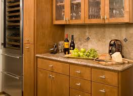 outstanding glass front cabinets kitchen traditional with wood bar
