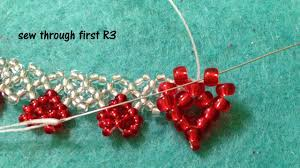 heart beaded necklace images Netted heart bracelet and necklace tutorial video dailymotion jpg
