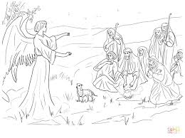 coloring page angel visits joseph free christian coloring pages for children and adults level 3