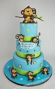 baby shower monkey cake party ideas pinterest boys cakes