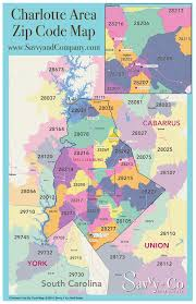 Zip Code Maps by Charlotte Zip Code Map Savvy Co Real Estate