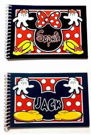 personalized autograph books 2 personalized disney autograph books mickey mouse and