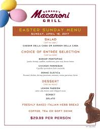 celebrate easter with romano s macaroni grill desert island