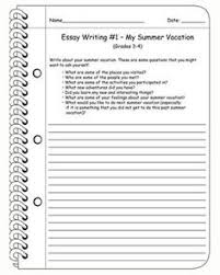 grades 1 4five amazing facts ccss writing summary worksheet for