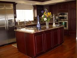 cherry cabinets kitchen wall color home design ideas