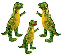 family pack of inflatable dinosaurs kids children party decoration