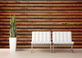 log cabin rustic oak canvas peel and stick wall mural