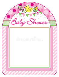 baby shower frames baby shower girl frame print sheet stock vector illustration of