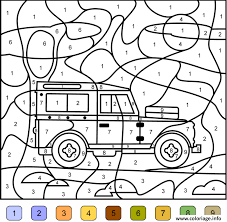 coloriage magique ce2 addition 12 dessin