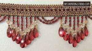 Beaded Home Decor Burgundy Venice Beaded Home Decor Trim On Braid