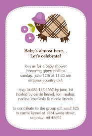 gift card shower wording babyhower invitation wording exles girlurprise for 2nd