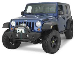 jeep matte rampage products 88509 front stubby recovery bumper in matte black