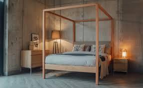 Queen Bed Frame Platform Bedroom Natural Wood Platform Bed Wood Queen Bed Contemporary