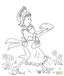 amelia bedelia carrying lemon meringue pie coloring page free
