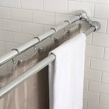 Curved Tension Shower Curtain Rods Double Shower Curtain Rod Curved Shower Curtain Rod Walmart To