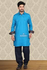 Light Blue Color by Wonderful Light Blue Color Pathani Suit For Men