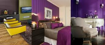 peinture violette chambre couleur tendance pour chambre et salon tout pratique
