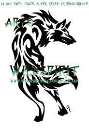 alert tribal wolf by wildspiritwolf on deviantart