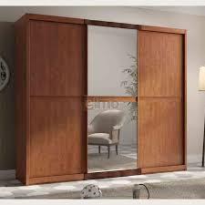 placard chambre adulte aménagement armoire dressing penderie merisier massif meubles elmo fr